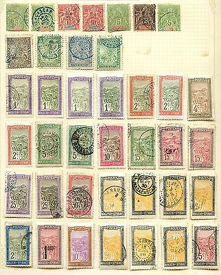 Madagascar Stamp Collection On Loose Album Page (Ref: C87)