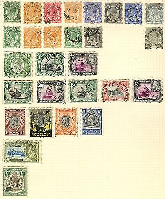 Kenya Stamp Collection Inc 1s On Loose Album Page (Ref: C85)