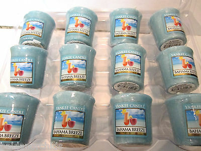 Yankee Candle 12 Pack BAHAMA BREEZE Votive Sampler Candles Sealed Cased Retired