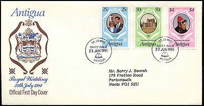 Antigua 1981 Royal Wedding FDC First Day Cover #C18228
