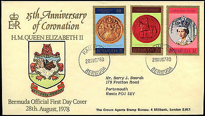 Bermuda 1978 Coronation 25th Anniv Cover #C17427