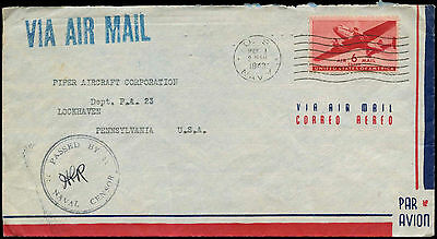 USA 1943 Passed By Naval Censor Cover #C17145