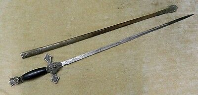 Vintage Lynch & Kelly KNIGHTS of COLUMBUS Ceremonial SWORD with Scabbard R871
