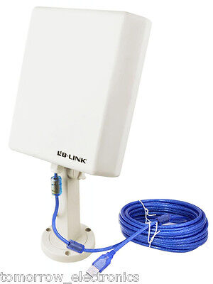 150M 10m Cable USB Wifi Wireless Adapter Long Range Outdoor High Gain Antenna US