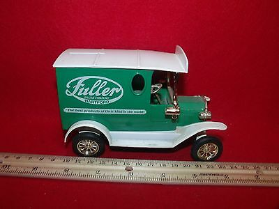 FULLER BRUSH Co. of Hartford Diecast Truck Collectible Coin Bank-Great Condition