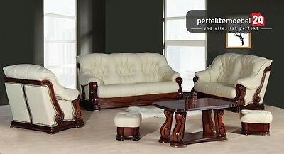 luxus polster garnitur set 3 2 1 sofa couch sessel. Black Bedroom Furniture Sets. Home Design Ideas
