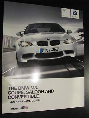 Brochure BMW The BMW M3. Coupé, Saloon and Converible 2010 (Engels)