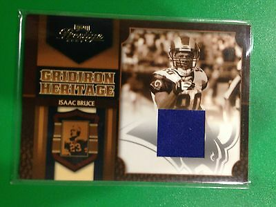2007 Playoff Prestige Gridiron Heritage Isaac Bruce Jersey Football Card!!! WOW!