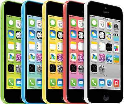 Apple iPhone 5c - 16GB (AT&T) Smartphone - Blue - Pink - White - Yellow - Green
