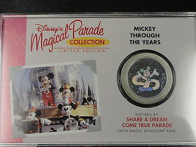 Disney Coin - Walt Disney World Medallion Collection - Mickey Through The Years