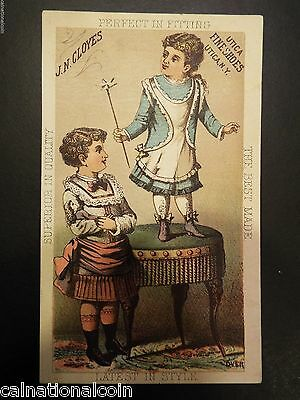 J.N. Cloyes Utica Fine Shoes Antique Trade Card