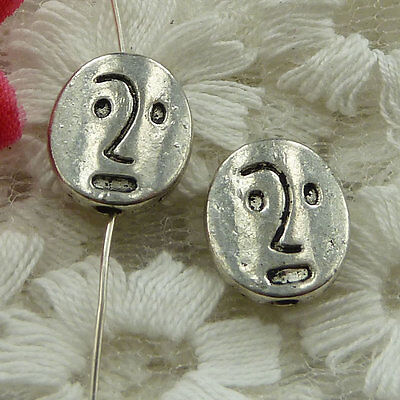 free ship 180 pieces Antique silver face spacer beads 12x10mm #2645