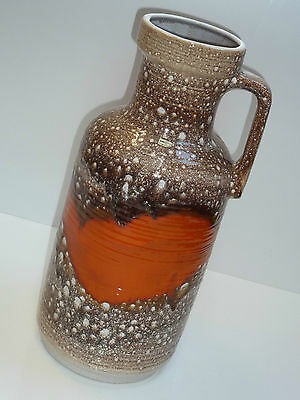 60er CARSTENS TÖNNIESHOF BODENVASE 46 cm 7604-45 orange 50s 60 floor vase orange