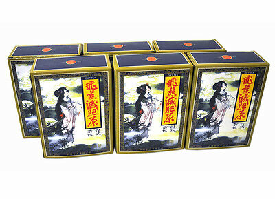 6 Packs Fei Yan Feiyan Slimming Tea Lose Weight 120 Tea Bags Green Tea Version
