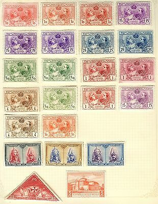 Spain Stamp Collection On Loose Album Page (Ref: C164)
