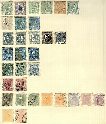 Spain Stamp Collection On Loose Album Page (Ref: C161)