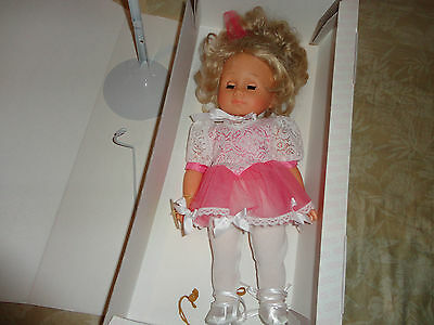 RARE Gotz Doll Deborah 16'' Made in West Germany NEW in Box with Stand