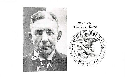 CHARLES DAWES VICE PRESIDENT OF THE UNITED STATES REAL PHOTO POSTCARD *SEE NOTE*