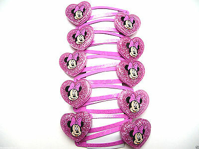 10 single Minnie Mouse hair clips - Costume Jewellery Hair clips