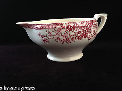 Rare Myott / Staffordshire England China RED Indiana - CREAMER / SYRUP PITCHER