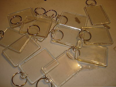 "PHOTO FRAME KEYCHAINS LOT OF 24 KEY CHAINS. 1.75"" X 2.25"""