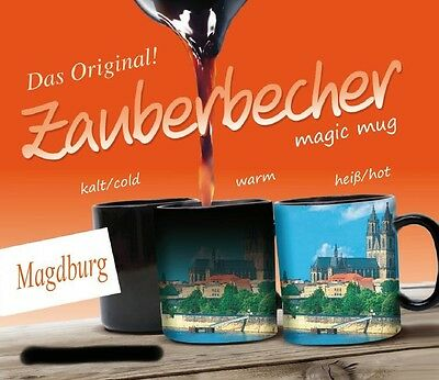 Zauberbecher Magdeburg Germany Zaubertasse Souvenir Magic Mug,300 ml.,Neu