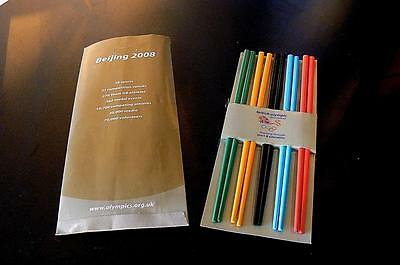 Team GB souvenir gift Bejing 2008 Olympic Games 10 chopsticks in Olympic colours