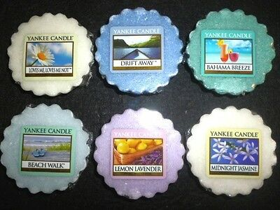 Yankee Candle 6 Tarts: Bahama Breeze  Jasmine  Loves Me Loves Me Not  ++  NEW