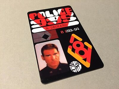 Blade Runner Rick Deckard Police ID Card Film / Movie Plastic Prop Double Sided