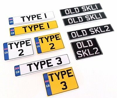 1:10 Scale UK British RC Mini Plastic Number / License Plates Pair for Car Drift