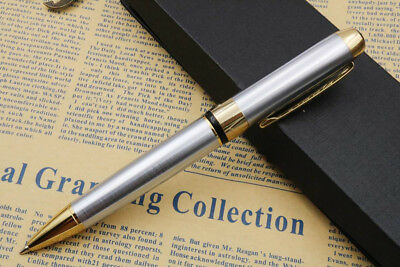 Jinhao 250 Silver And Gold Twist Ballpoint Pen New