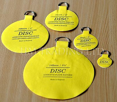 Plate Picture Hanger Disc Self Adhesive Stick on Invisible Hook 5 Sizes Availabl