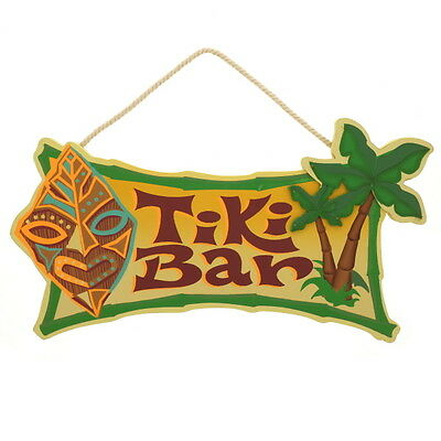 Tiki Bar Hawaiian God Tropical Cutout Wood Sign KC Hawaii Decor 8.5 x 16