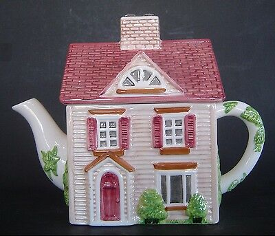 """THE FRIENDLY VILLAGE SERIES 1 """"THE VILLAGE STREET"""" TEAPOT BY JOHNSON BROTHERS"""
