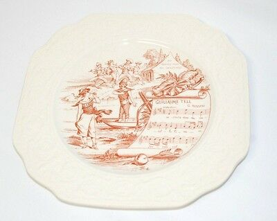 "METROPOLITAN OPERA PLATE ""GUILLAUME TELL"" BY MOTTAHEDEH ENGLAND"