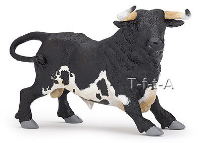 FREE SHIPPING | Papo 51164 Black & White Andalusian Spanish Bull- New in Package