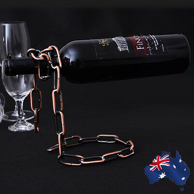 Wine Chain Rack Liquor Bottle Holder Floating Alcohol Magic Illusion HWIHA8650
