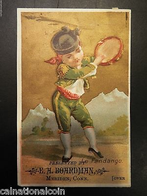 E.A. Boardman Spring Shoe Antique Trade Card