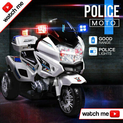 NEW ROVO KIDS Electric Ride On Patrol Motorbike S1K Inspired Battery Police Car