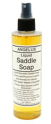 LIQUID SADDLE SOAP spraY Glycerine Cleaner Conditioner Boots & Shoes ANGELUS 221