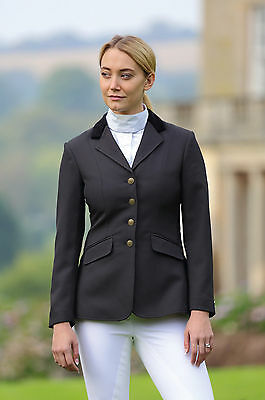 Shires Ladies Aston Show Jacket horse Competition Navy or Black all sizes
