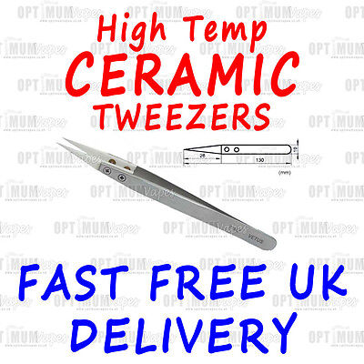 Stainless Steel Presicion CERAMIC TWEEZERS - High Temp Resistance 72MZ coils