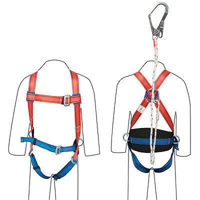 T1074 Silverline Restraint Kit Harness & Lanyard Safety Fall Protection
