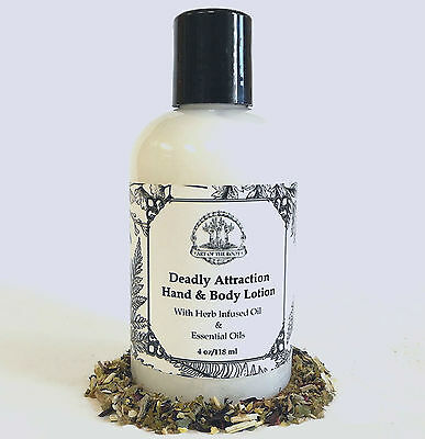 Deadly Attraction Lotion Lust, Sex, Seduction, Passion Hoodoo Voodoo Wicca Pagan
