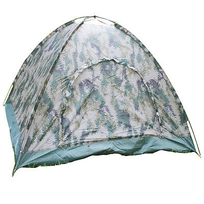 Outdoor 4 Person 4 Season Camping Hiking Waterproof Folding Tent Camouflage