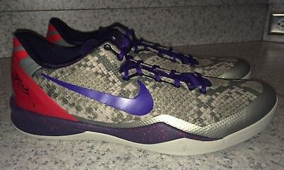 NIKE KOBE 8 System Low Grey Purple Red Basketball Shoes Sneakers NEW Mens 18