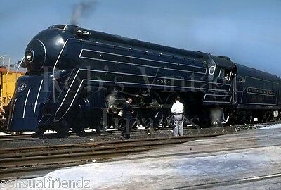 B & 0 Baltimore & Ohio Royal Blue 5304 Railroad Bullet  train photo 1940s 4-6-2