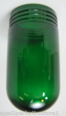 Old Green Glass GB Inc Industrial Explosion Proof Color Light Lamp Shade thread