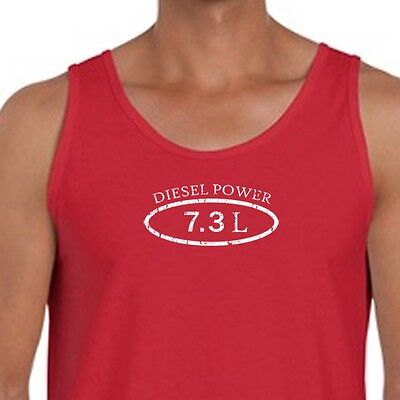 Diesel Power 7.3L Truck Ford Dodge T-shirt Funny Engine Stroke Men's Tank Top