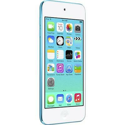 "Apple iPod Touch 5th Gen 16GB, 4"" Retina, iSight Camera, White/Blue - MGG32LL/A"